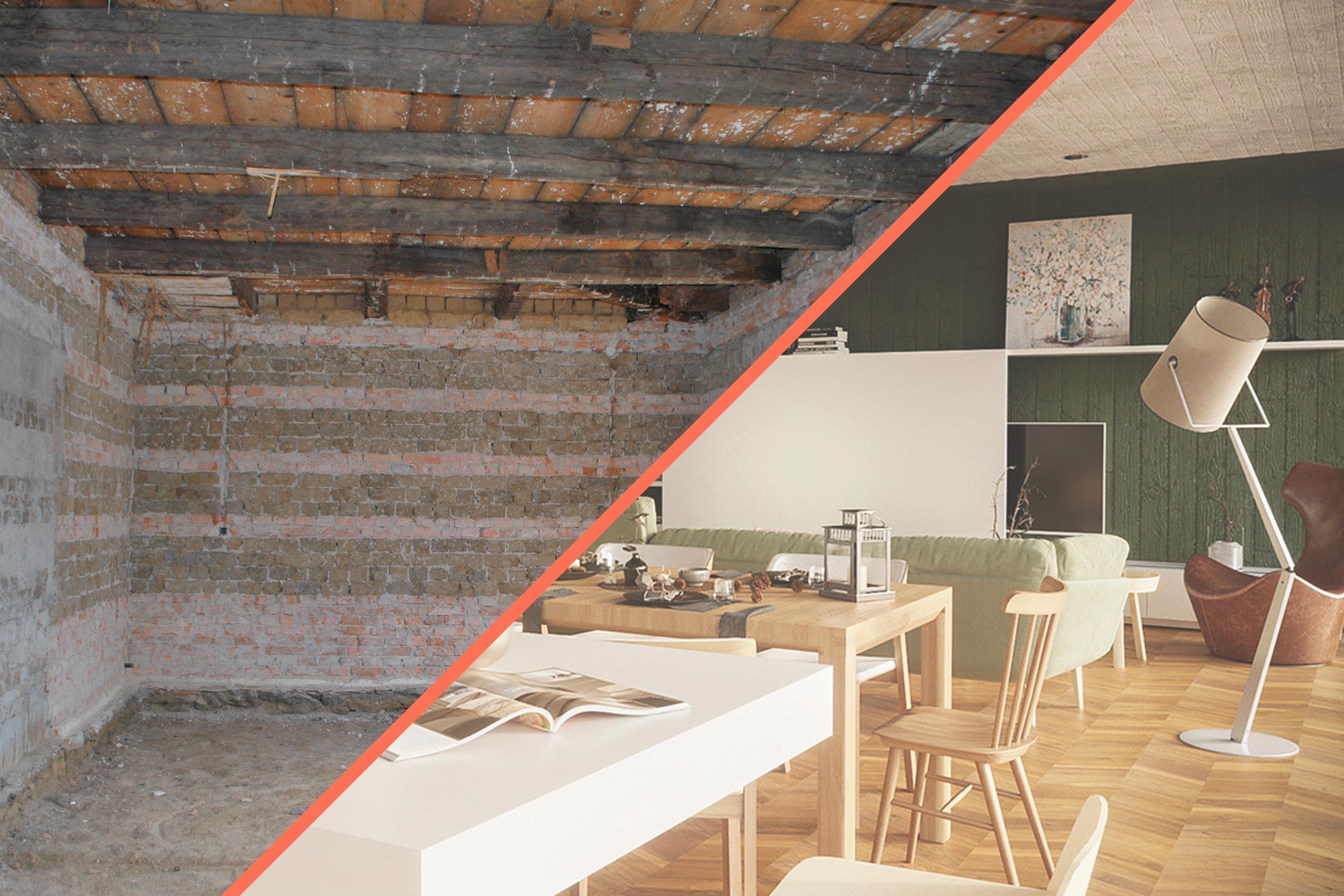 Rekonstrukce domu Veľká Ves — před a po